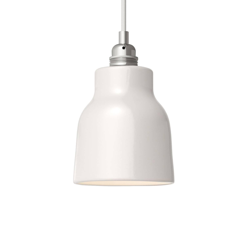 lampskärm vit keramik